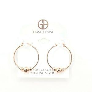 """Giani Bernini 1 1/4""""Rose Gold Beaded Earrings"""
